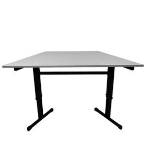 Academy Height Adjustable Trapezoid Table