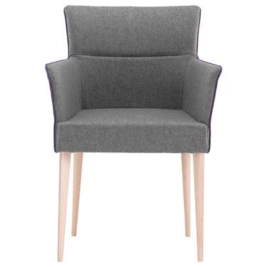 Adelaide Armchair on 4 Leg Timber Base