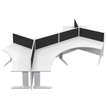 Breeze System - 120° Panel Workstation