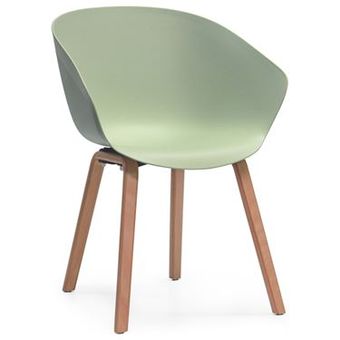 Basque Café Chair with Timber Legs