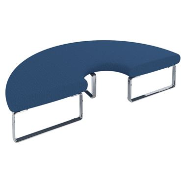 Benchmark Modular Seating System - 180° Curved Bench