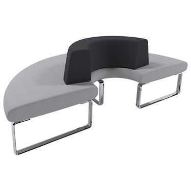 CLEARANCE - Benchmark Modular Seating System - 180° Curved Lounge