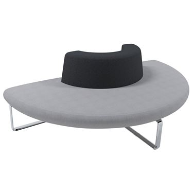 Benchmark Modular Seating System - 180° Curved Lounge