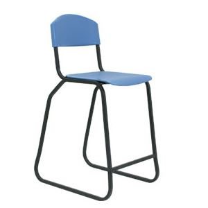 Cato Sled Stool with Back