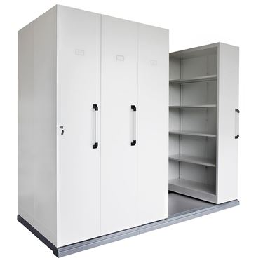 Quick Mobile Shelving - 4 Bay