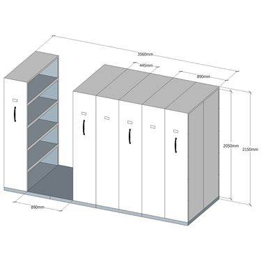Quick Mobile Shelving - 6 Bay