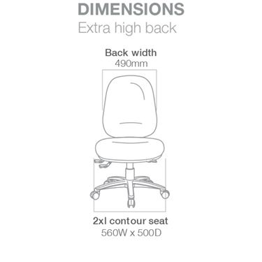 Demi Plus Extra High Back Office Chair