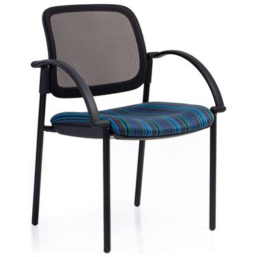 EBF Stacker Mesh Back 4 Leg Visitor Chair