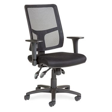 Emcee Square High Back Mesh Office Chair with Arms