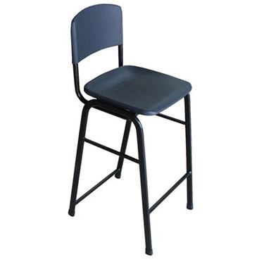 Examiner Stacking Stool with Back