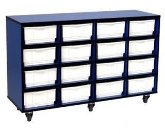 Examiner Mobile Tray Storage - 16 Tote