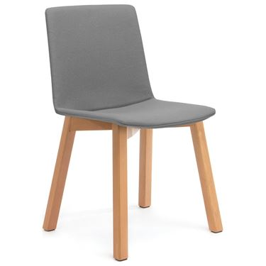 Jubilee Upholstered Timber 4-Leg Visitor Chair