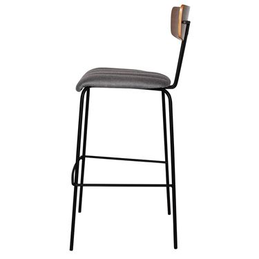 Leon 4-Leg Visitor Stool with Upholstered Seat Pad