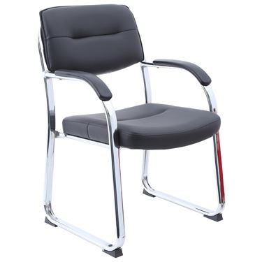 London Sled Base Visitors Chair with Chrome Frame
