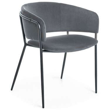 Connie Armchair with Black Metal Frame