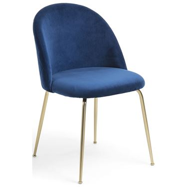 Mystique Visitor Chair with Gold Frame