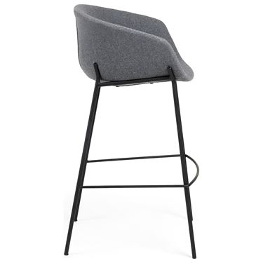 Zane Barstool with Black Metal Frame