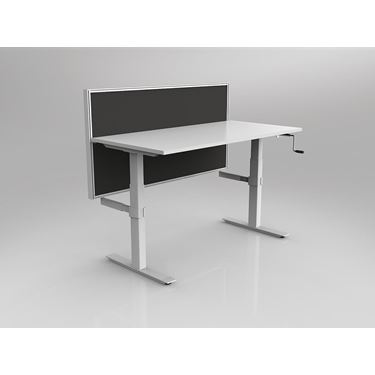 Leverage Winder Height Adjustable Straight Desk