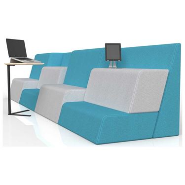 Moto Grandstand 4 Piece Collaborative Seating Combination