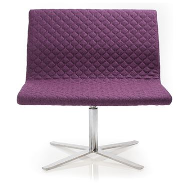 Milla Armchair with Polished Steel 4-leg Base