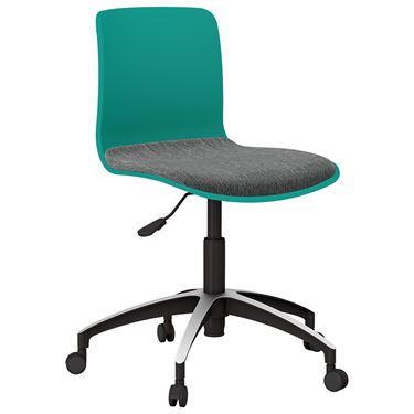The Mixx Visitor Chair with Castors and Seat Pad