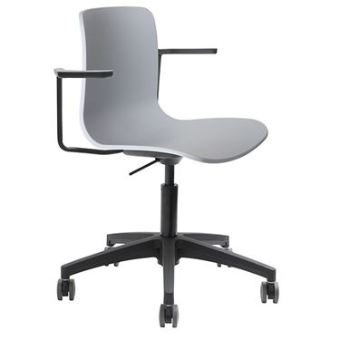 The Mixx Visitor Chair with Castors Fully Upholstered with Arms