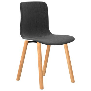 The Mixx Woodgrain 4 Leg Visitor Chair fully upholstered