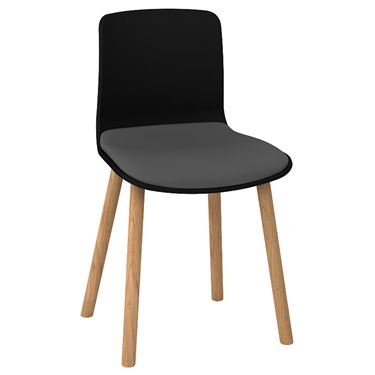 The Mixx Timber 4 Leg Visitor Chair with Seat Pad