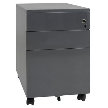 Built Strong 3 Drawer Metal Mobile Pedestal