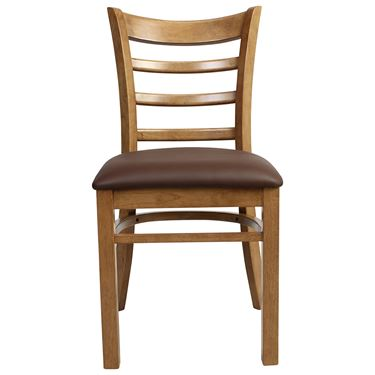 Mustang Timber Chair with Upholstered Seatpad