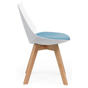 Nulla Visitor Chair with Oak Frame