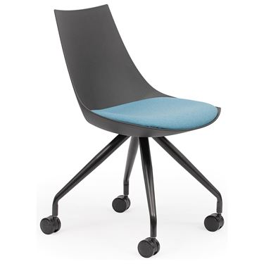 Nulla Visitor Chair with Castors