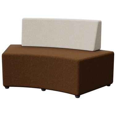 Otto Mix Curved Ottoman - Seat & Back 1500