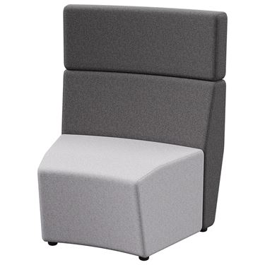 Arcadia 1 Seater Outer-Curve Tall Back (30 degree)