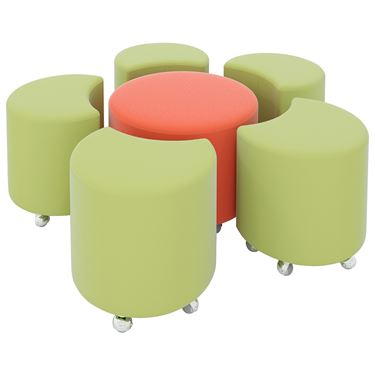 PODZ 6 Piece Large Flower Ottoman Setting