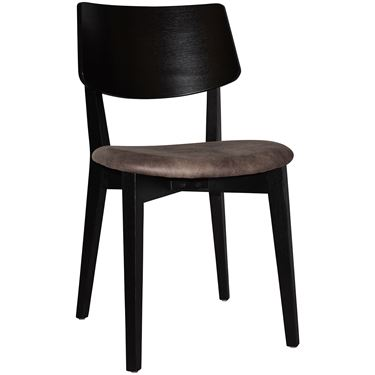 Phoenix Café Chair with Upholstered Seat