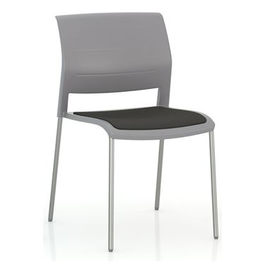 Play 4 Leg Chair with Upholstered Seat