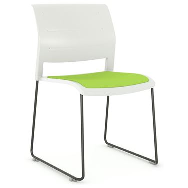 Play Sled Base Chair with Upholstered Seat