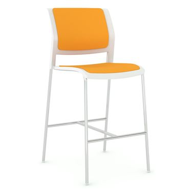 Play Barstool Chair with Upholstered Seat and Back