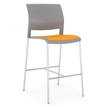 Play Barstool Chair with Upholstered Seat