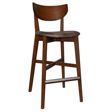Rialto Café Stool with Upholstered Seat Pad
