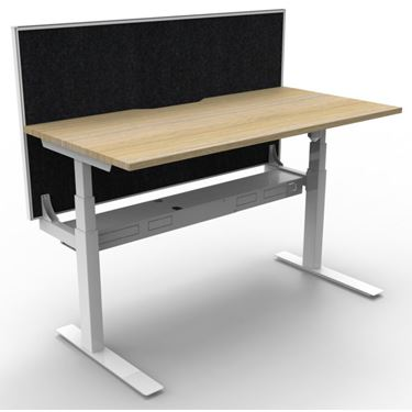 Rapid Span Electric Paramount Single Open Workstation - WITH Privacy Screen
