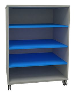 Sterling Mobile Single Sided Bookcase