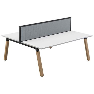Sustain Double Sided Timber Leg Workstation with Studio50 Screen
