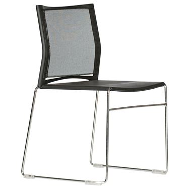Tophat Sled Base Mesh Back Visitor Chair