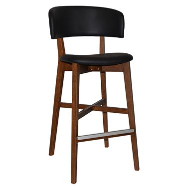 Torino Visitor Stool with Upholstered Seat and Back