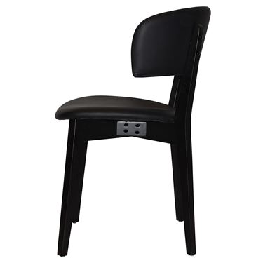 Torino Visitor Chair with Upholstered Seat and Back