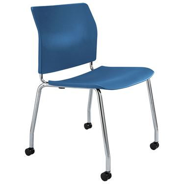 Uno Chrome 4 Leg Visitor Chair on Castors