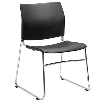 Uno Chrome Sled Base Visitor Chair