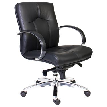 Veep Manager's Leather Medium Back Chair